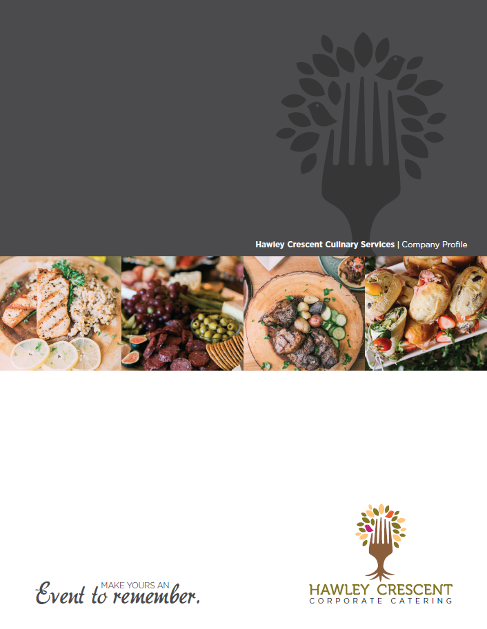 Corporate Catering Brochure from Hawley Crescent