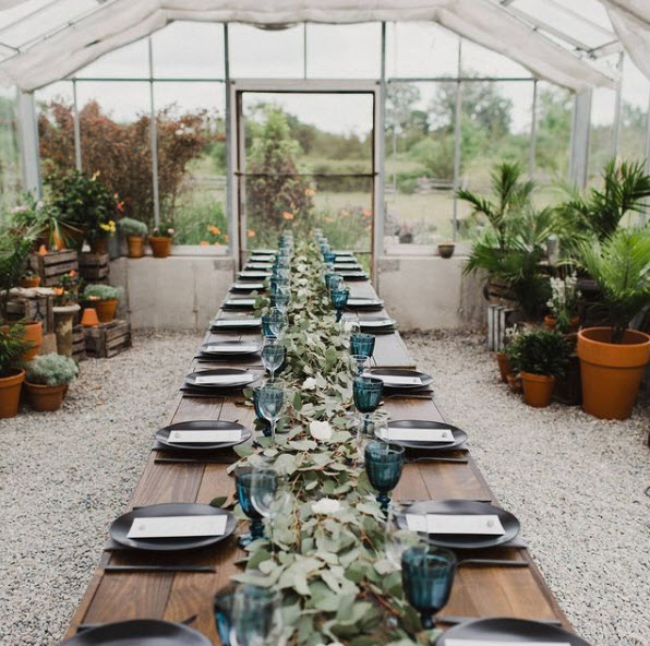 Greenhouse Wedding with Hawley Crescent Catering & Events