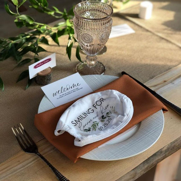 Place Setting at a Hawley Crescent Catering & Events Wedding